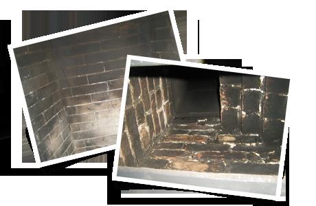 Boîte à feu vieillissante et chambre à fumée dégradée