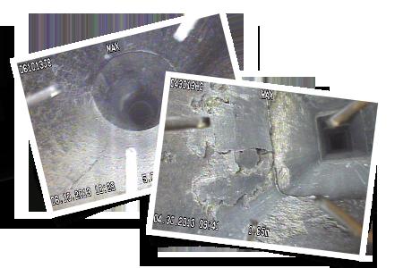 Tuiles de céramiques dégradées ou fissurées